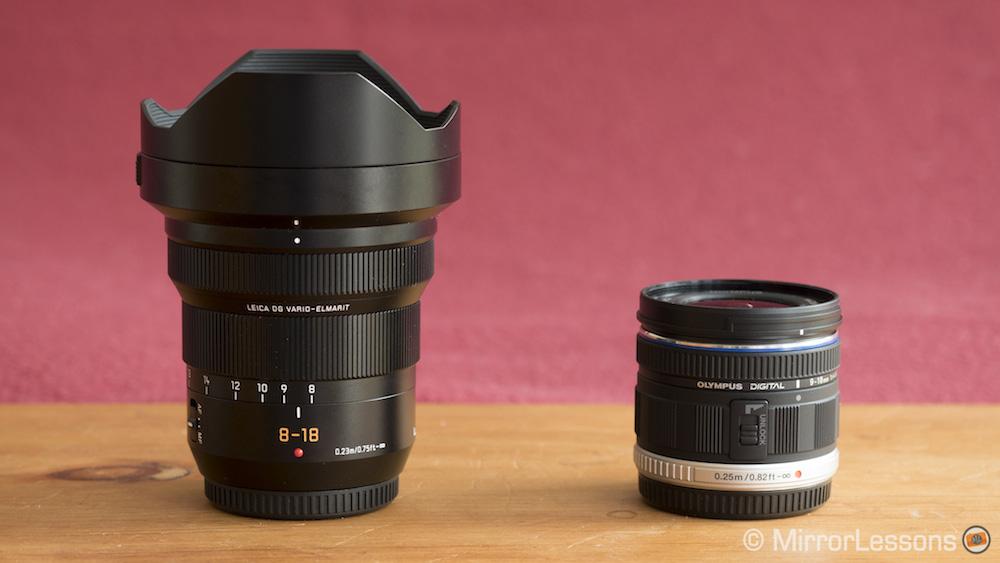 Leica 8-18mm против Olympus 9-18mm продукт выстрелов-1