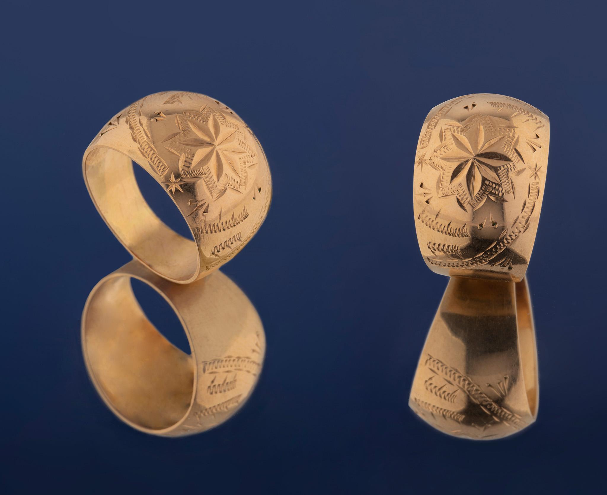 Широкое кольцо. Украшения из СССР. Профессиональная фотосъемка предметов