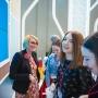 Reportajnaya semka na stende v Moskve