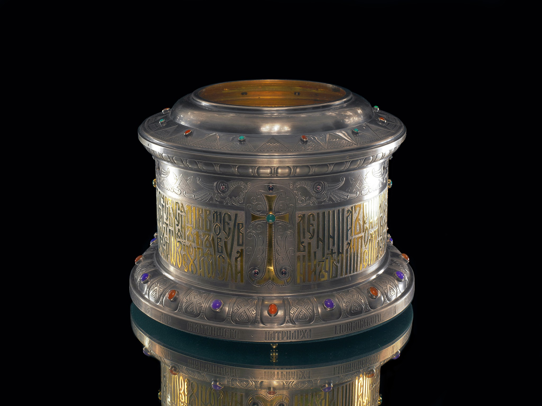 Object photography for jewelry advertising reliquary for church