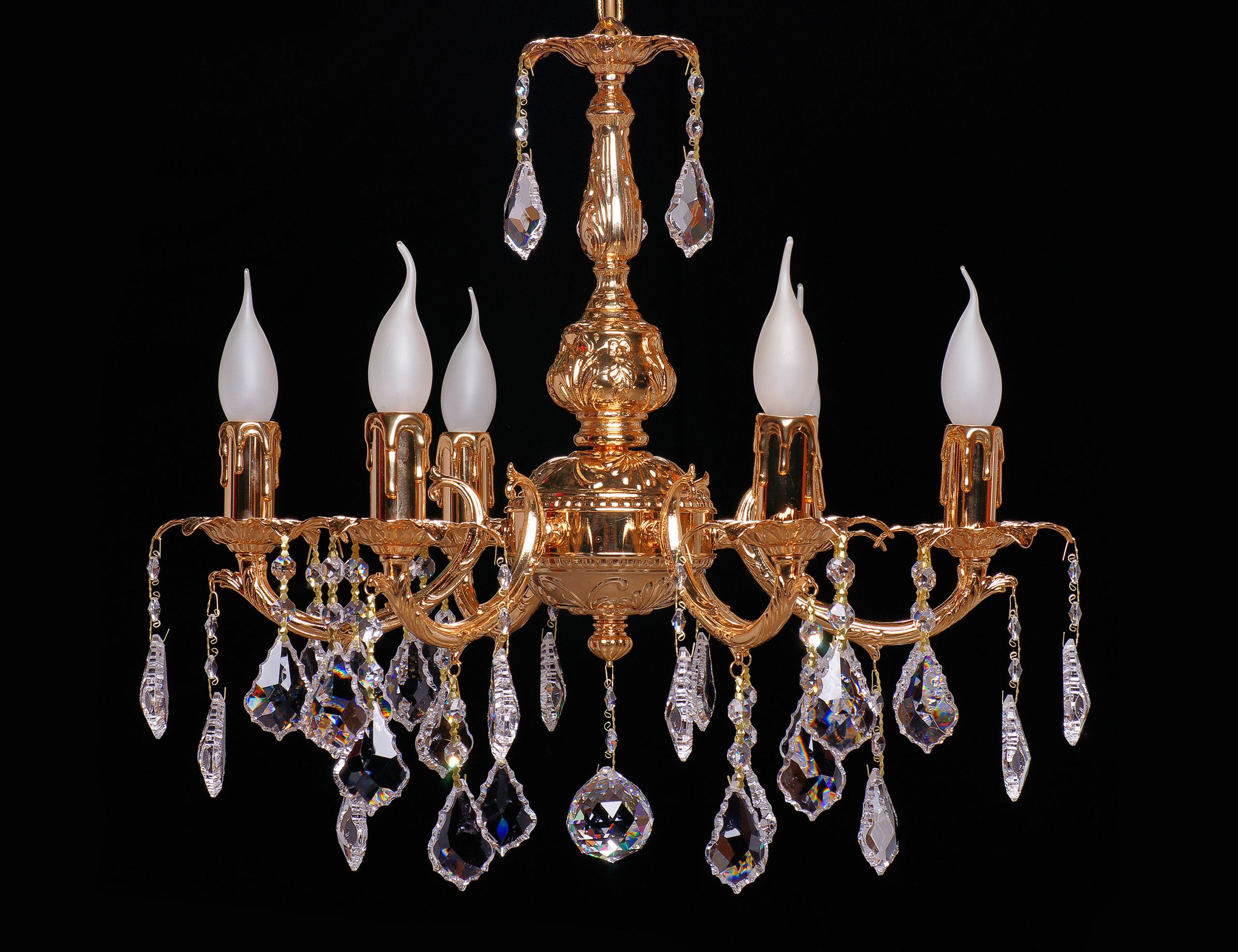photography of chandeliers on a dark background