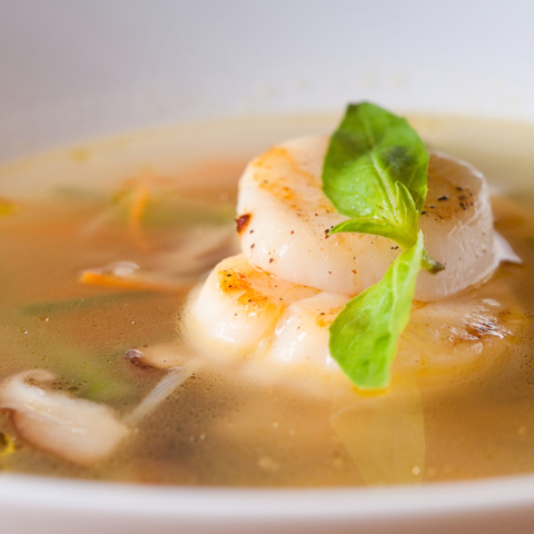 Professional photo session of dishes for restaurants