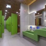 Туалеты в ТорговомЦентре. Интерьерная съемка